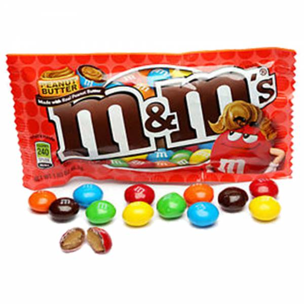 M&M Mantequilla de Mani - candy crazy